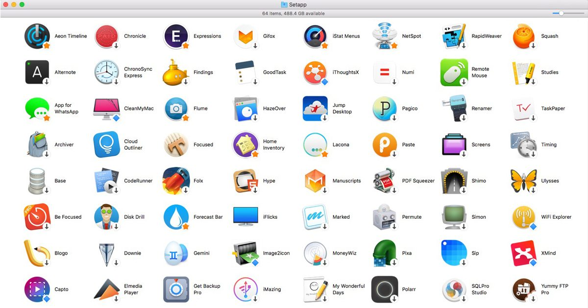 Setapp currently offers unrestricted use of 64 apps for $9.99/month.