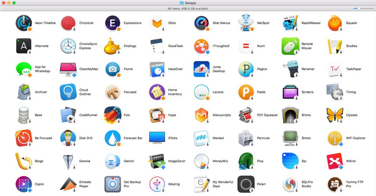 Setapp app subscription service for the Mac