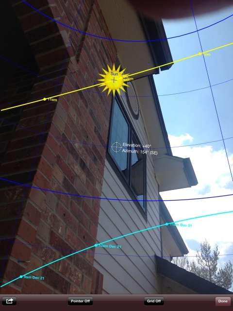 Sun Seeker app for iOS