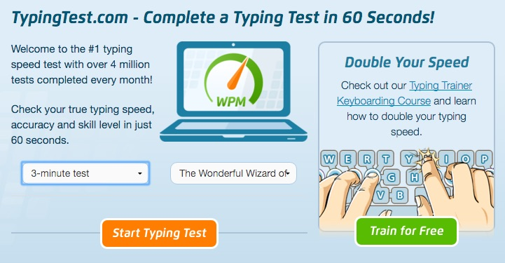Train for free at www.typingtest.com!
