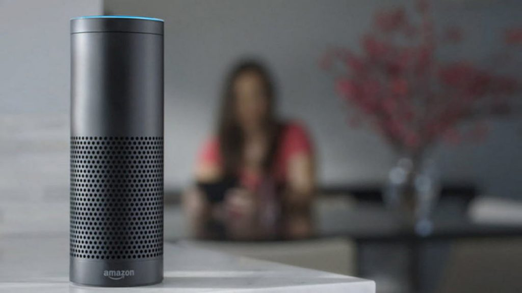 Amazon Echo in the living room