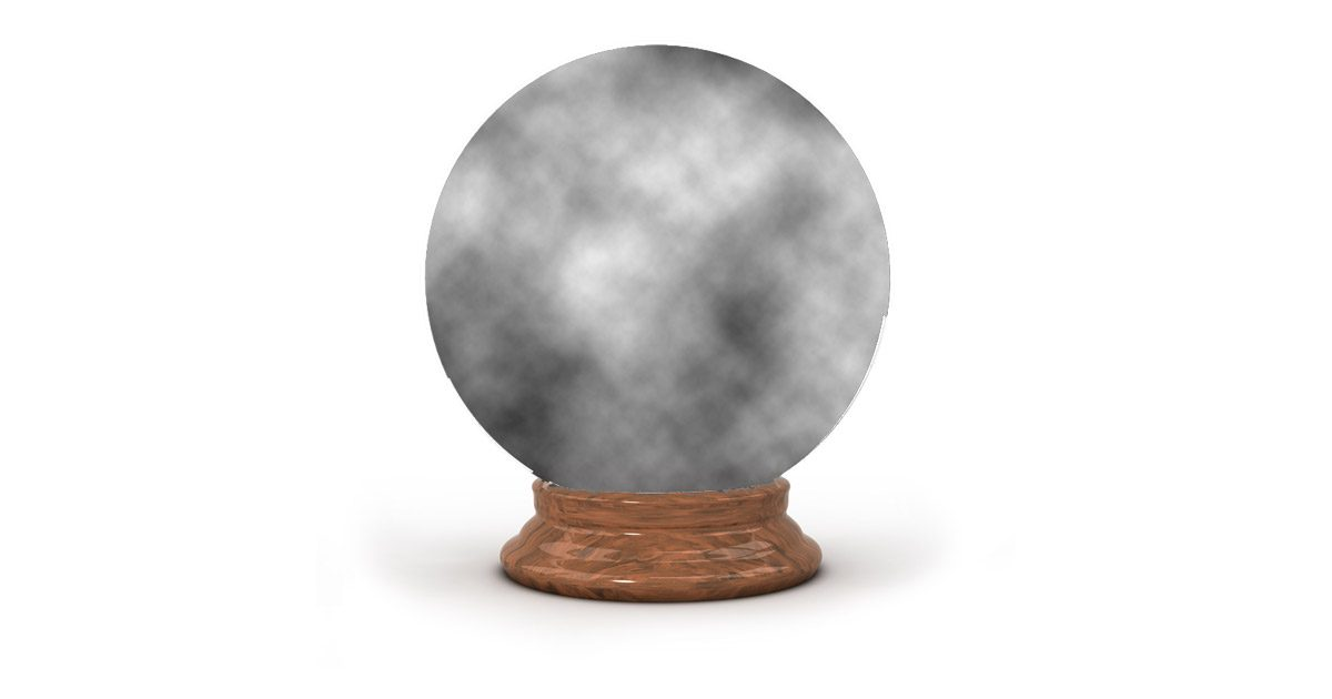 A cloudy Apple crystal ball