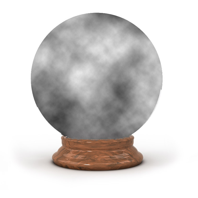 A cloudy Apple crystal ball