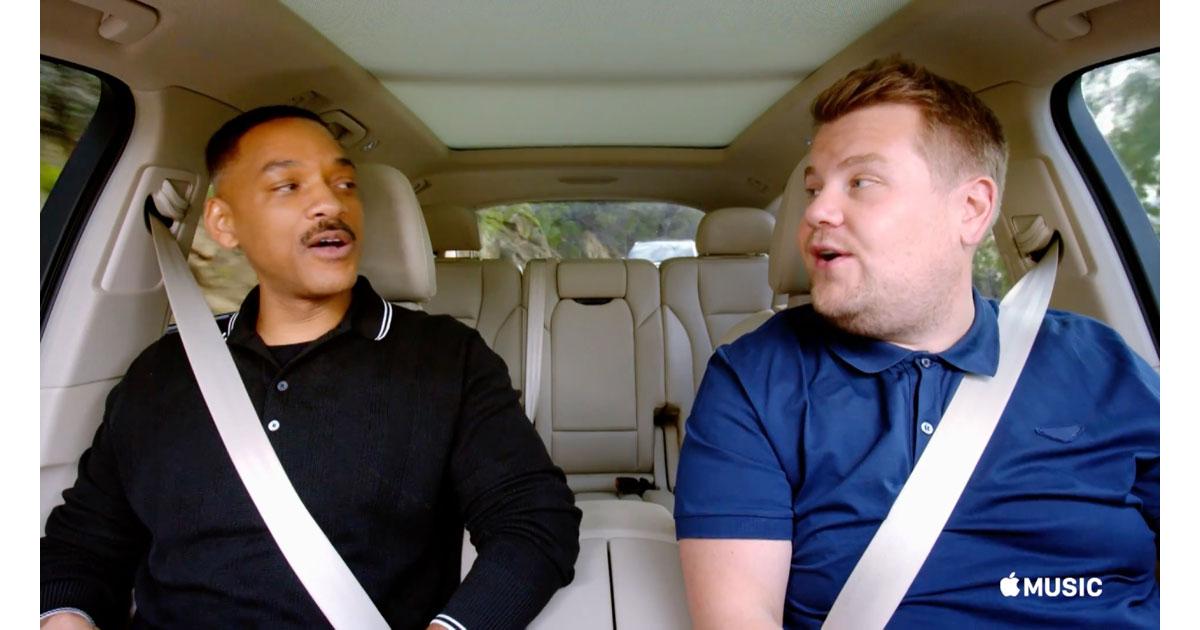 Apple Music Carpool Karaoke with Will Smith and James Corden