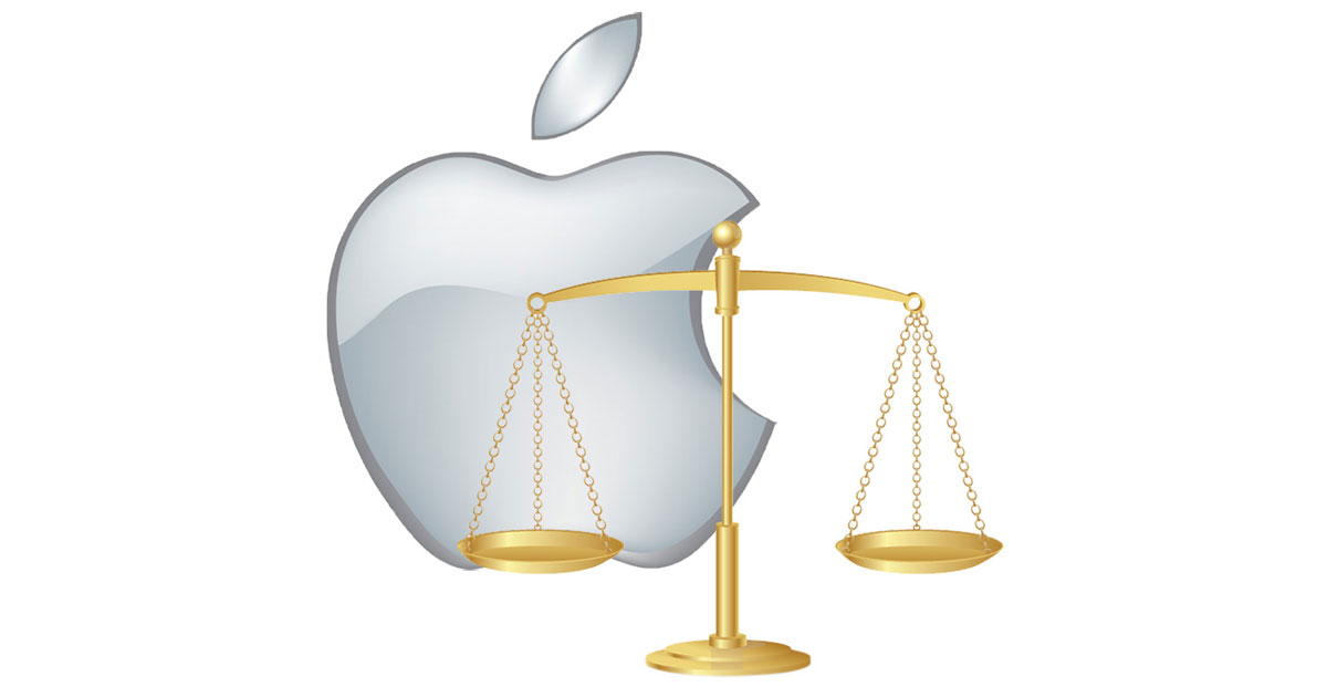 Apple Scales of Justice