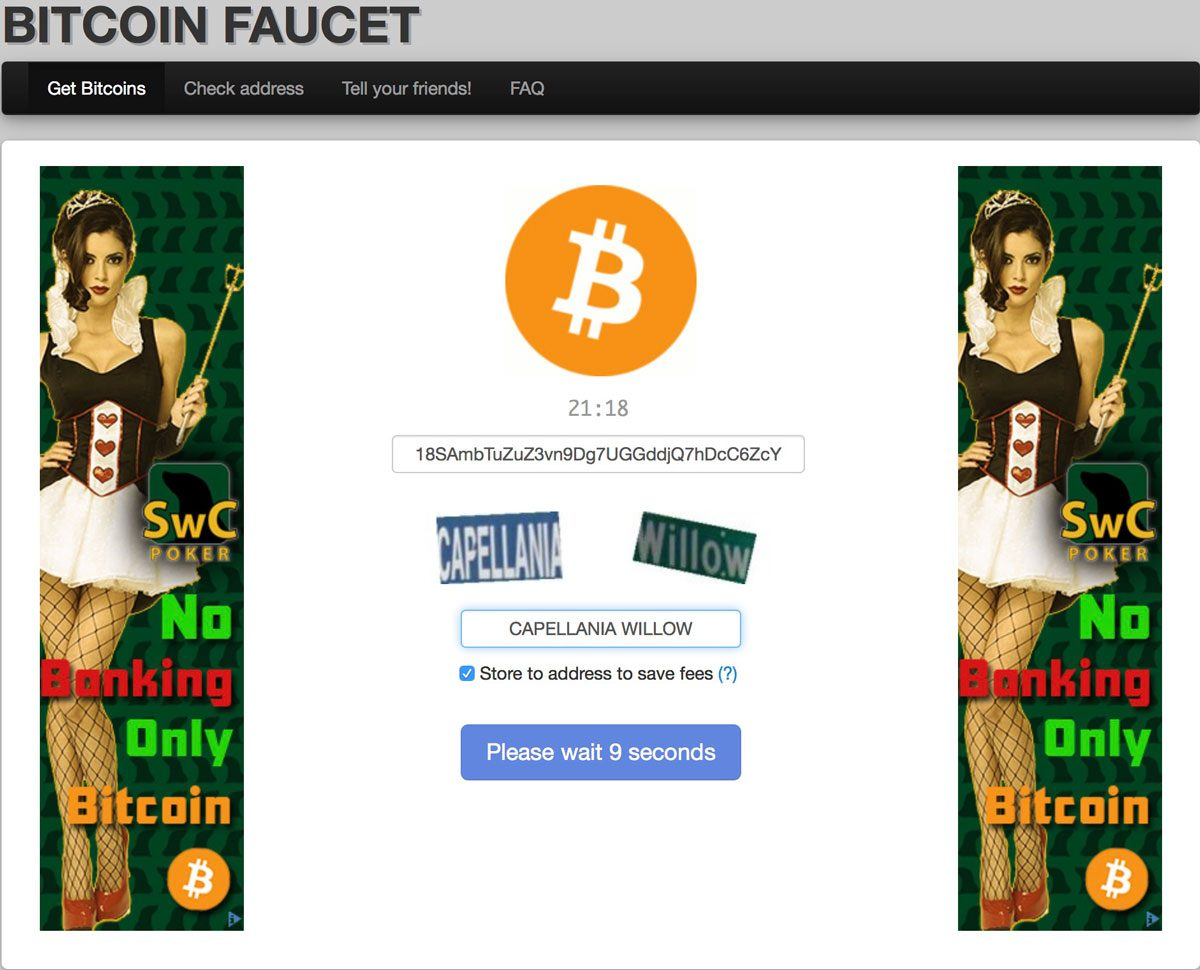 BitcoinFaucet.tk Screenshot