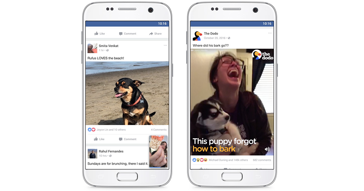 Facebook setting audio to always on by default in its iPhone and Android apps