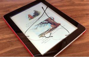 iPad as e-book reader.