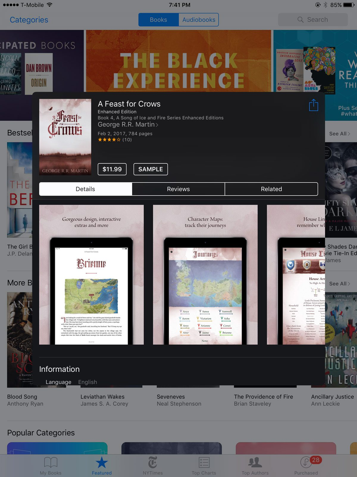 A Feast for Crows Enhanced Edition on iBooks
