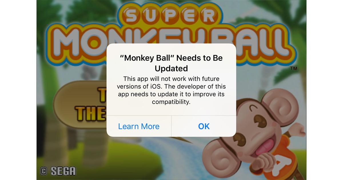 ioS 10 32-bit app warning dialog