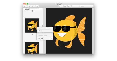 Save frames from a GIF as new images with Preview in macOS
