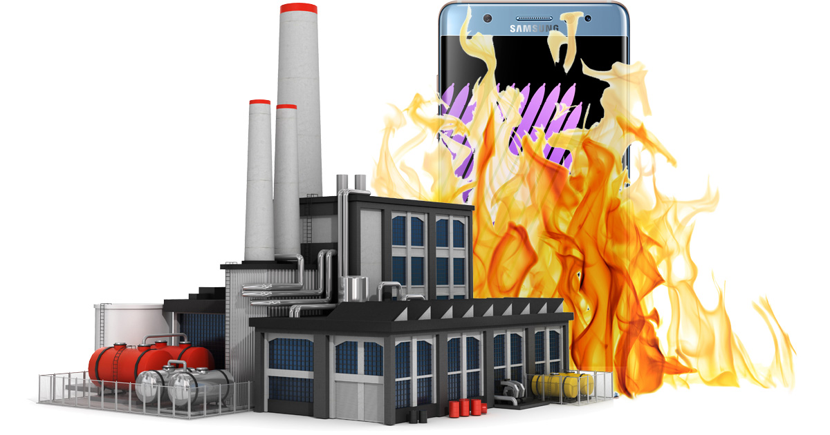 Samsung Galaxy Note 7 batteries catch fire in factory