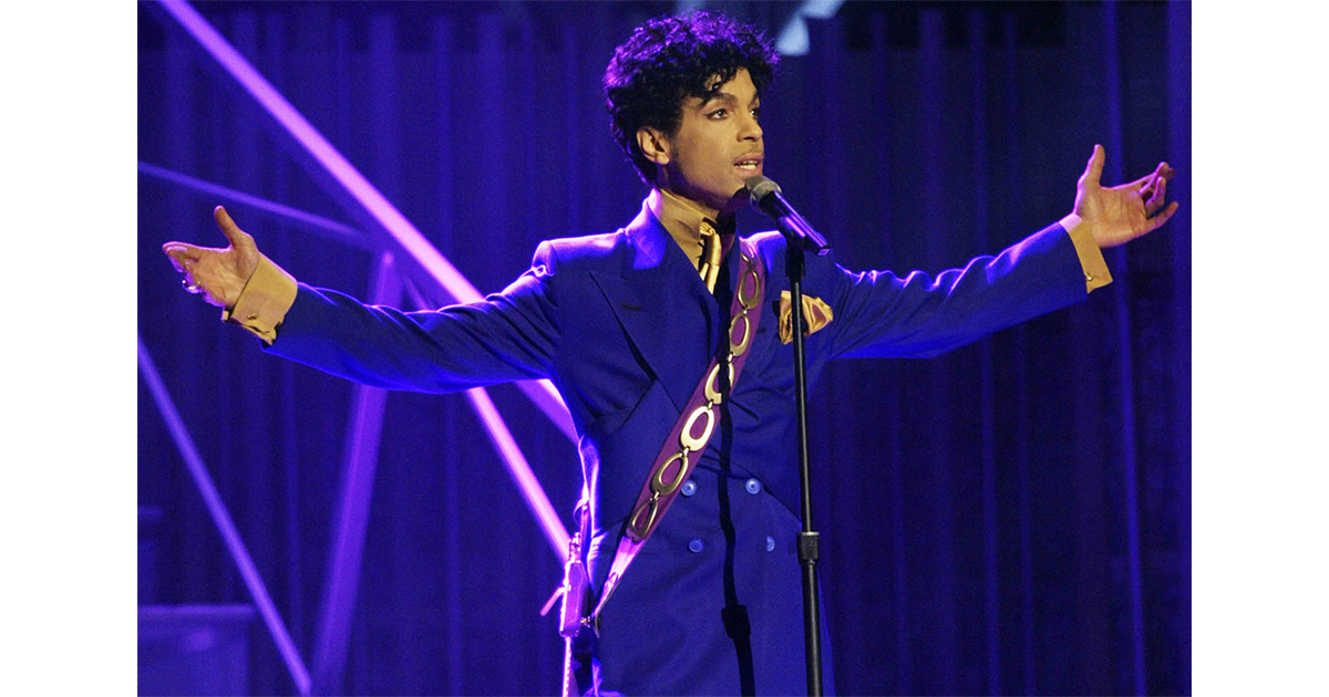 Prince albums on Apple Music in February - AP photo of Prince at the 46th Grammy Awards