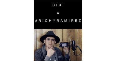 Ricky Ramirez on Instagram with Siri