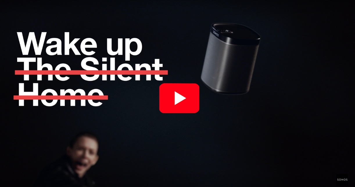 Sonos Wake up the Silent home video playback button