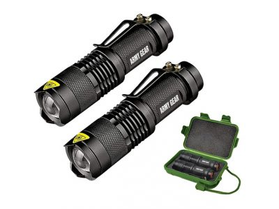 UltraBright 500-Lumen Tactical Military Flashlight: 2-Pack