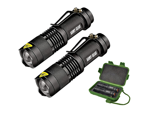 UltraBright 500-Lumen Tactical Military Flashlight 2-Pack: $29.99