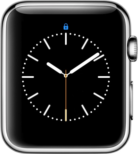 Apple Watch Lock Status Icon