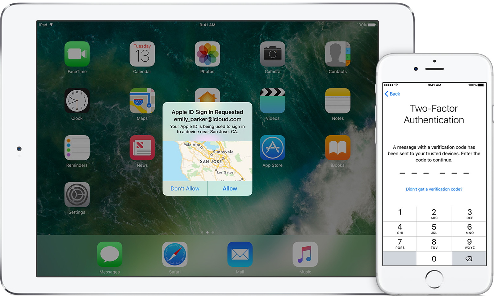 iOS two factor authentication