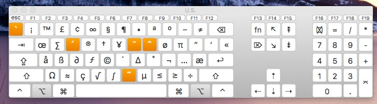 Finding accented letters in the Keyboard Viewer