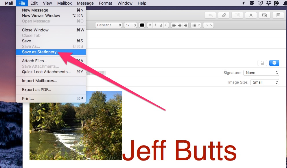 Creating your own stationery in Apple Mail