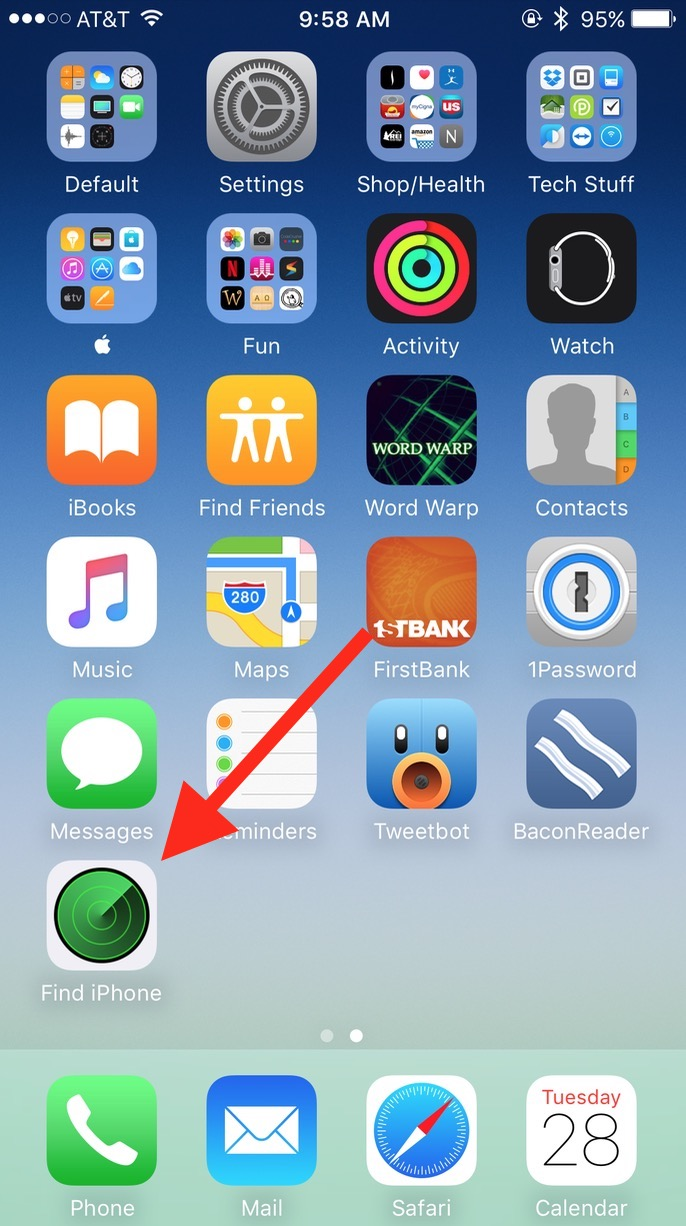 Install the Find my iPhone app to track down your misplaced AirPods