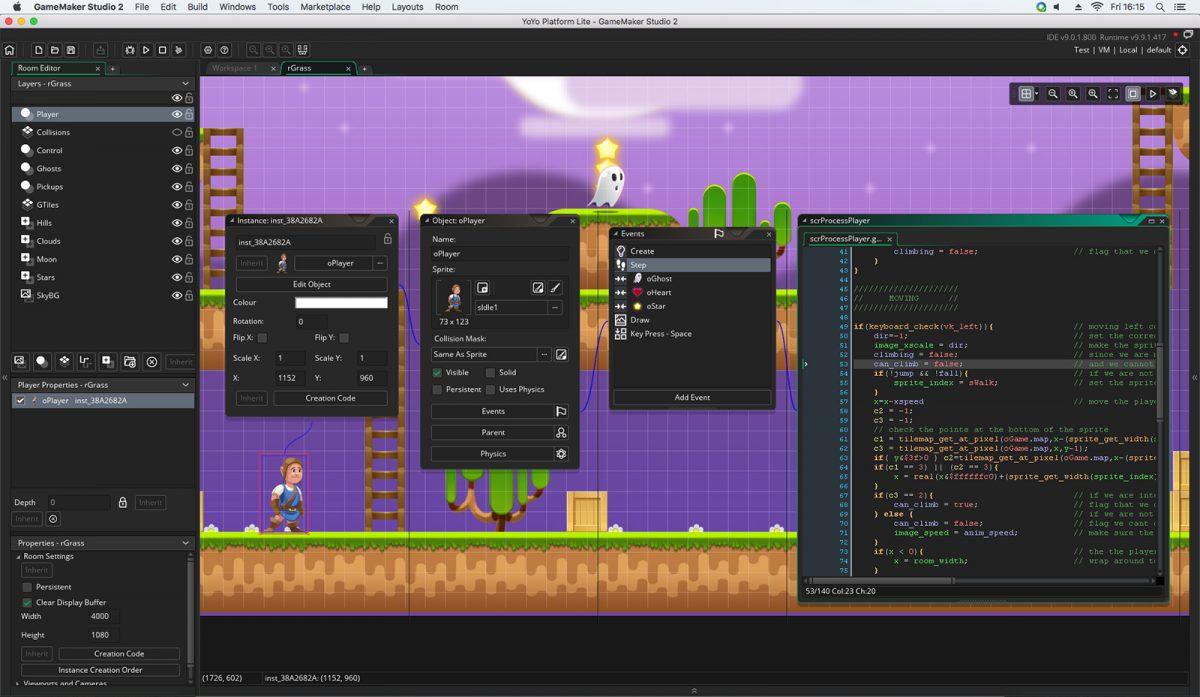 creating levels in gamemaker studio 2