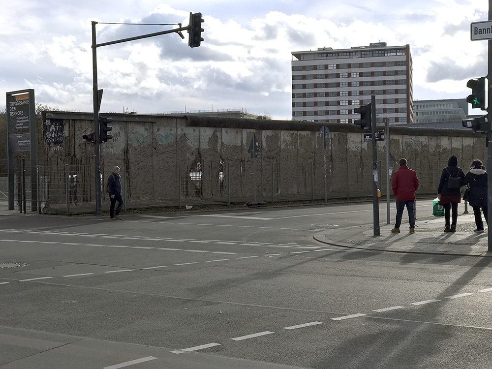 One of the few remaining pieces of the wall in Berlin.