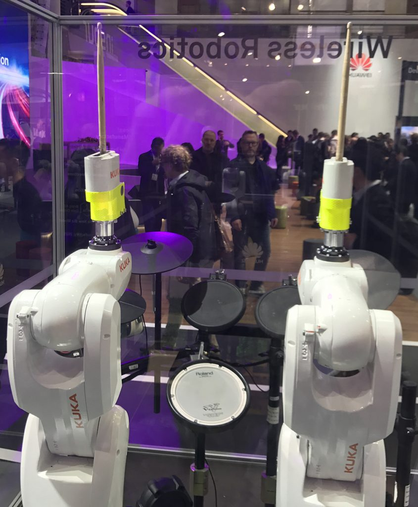 This robot played the drums! (But it was no Dave Hamilton, believe me.)