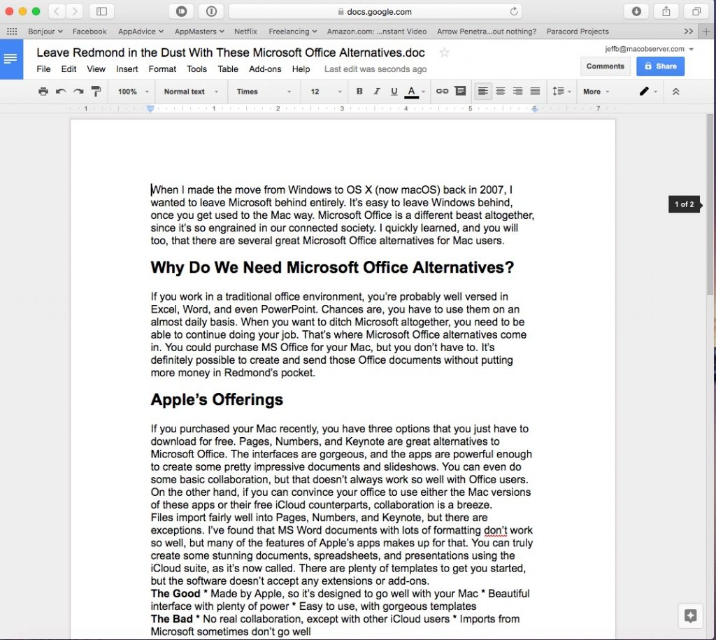 Ditch Redmond With These Microsoft Office Alternatives for Mac ...