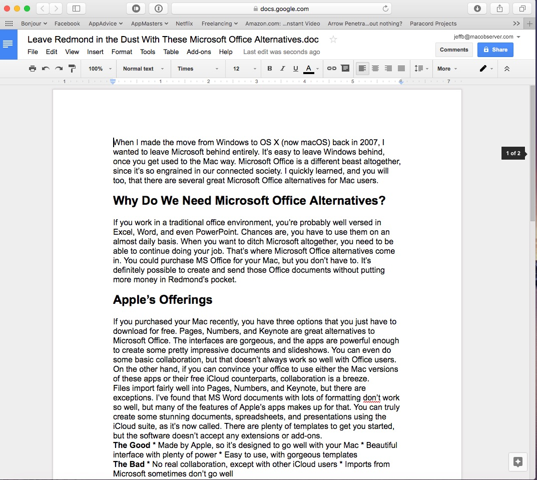 Ditch redmond with these microsoft office alternatives for for Google documents and data