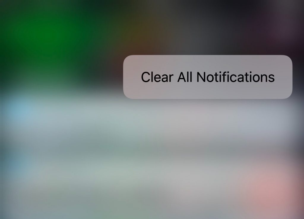 Clear All Notifications with 3D Touch