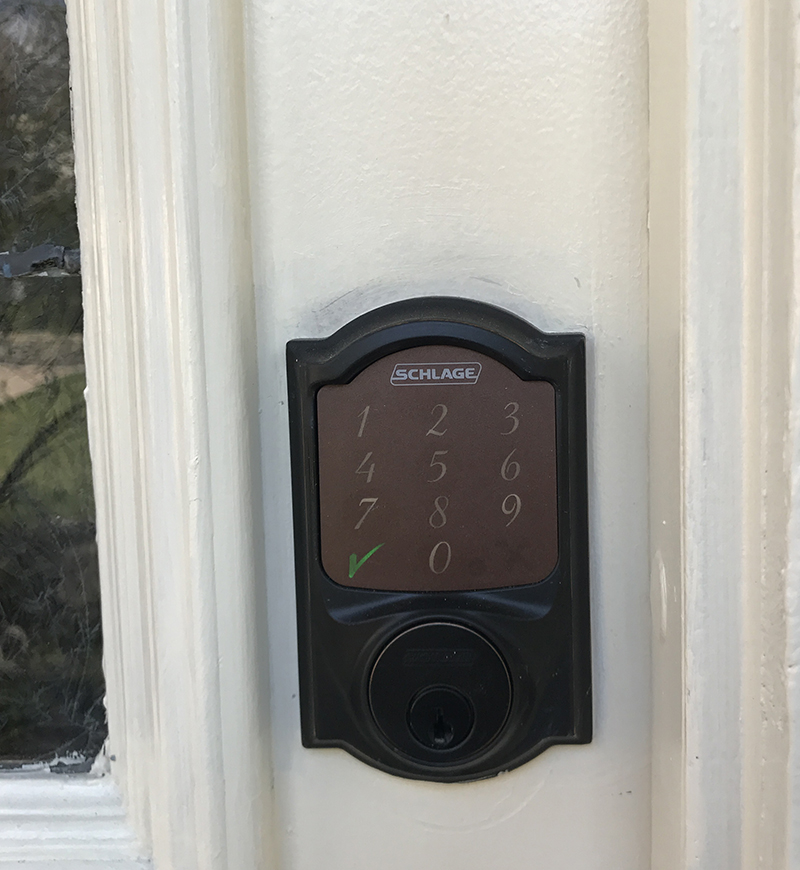 Schlage Sense Smart deadbolt installed