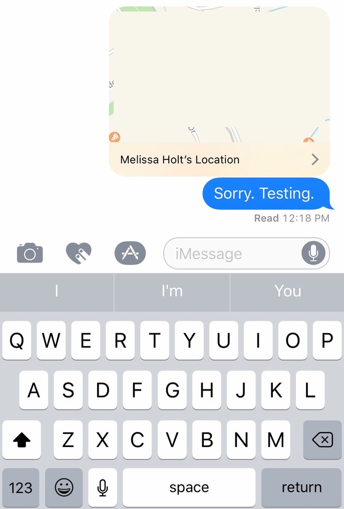 Sharing your location in Messages on the iPhone