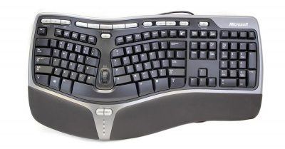 The Microsoft Ergonomic Keyboard 4000 Dr. Mac favors...