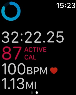 Apple Watch and Outdoor Walk monitor
