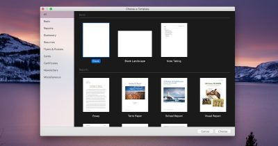 Change Pages for macOS to always open with a blank document or some other template