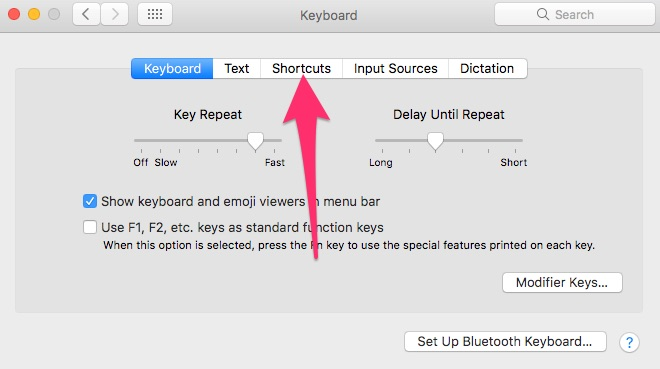 Navigating to customize the Services Menu in System Preferences to optimize macOS