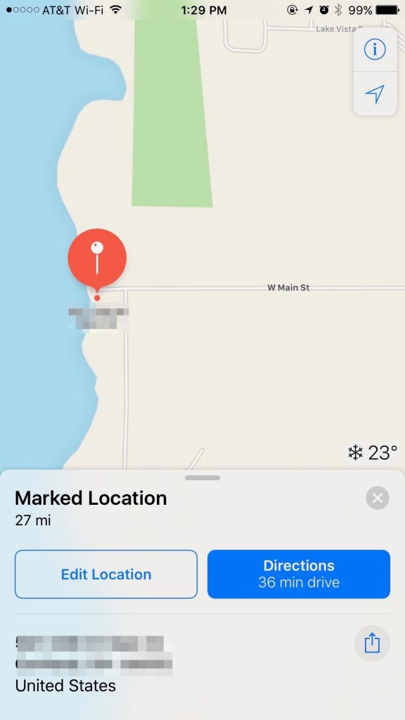 Share My Location by setting a marker in Maps