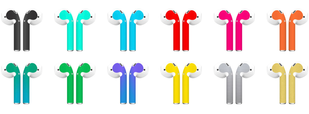 Airpod Skins Add a Splash of Colorful Protection to Apple AirPods