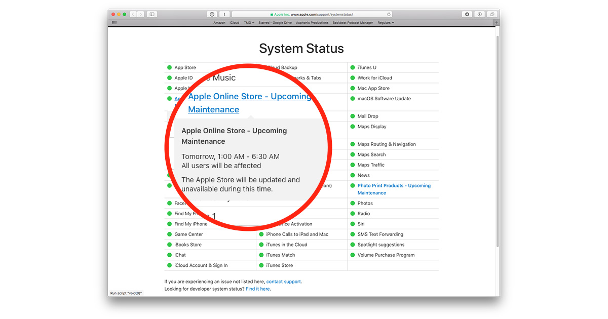 Apple Online Store down time hints at new product announcements, maybe