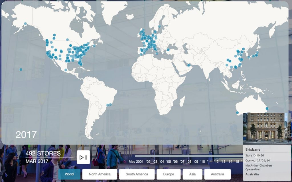 Picture of: Global Fleet Of Apple Stores Explode In This Animated Timeline The Mac Observer