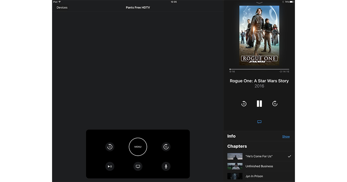 Apple TV Remote 1.1 adds iPad support