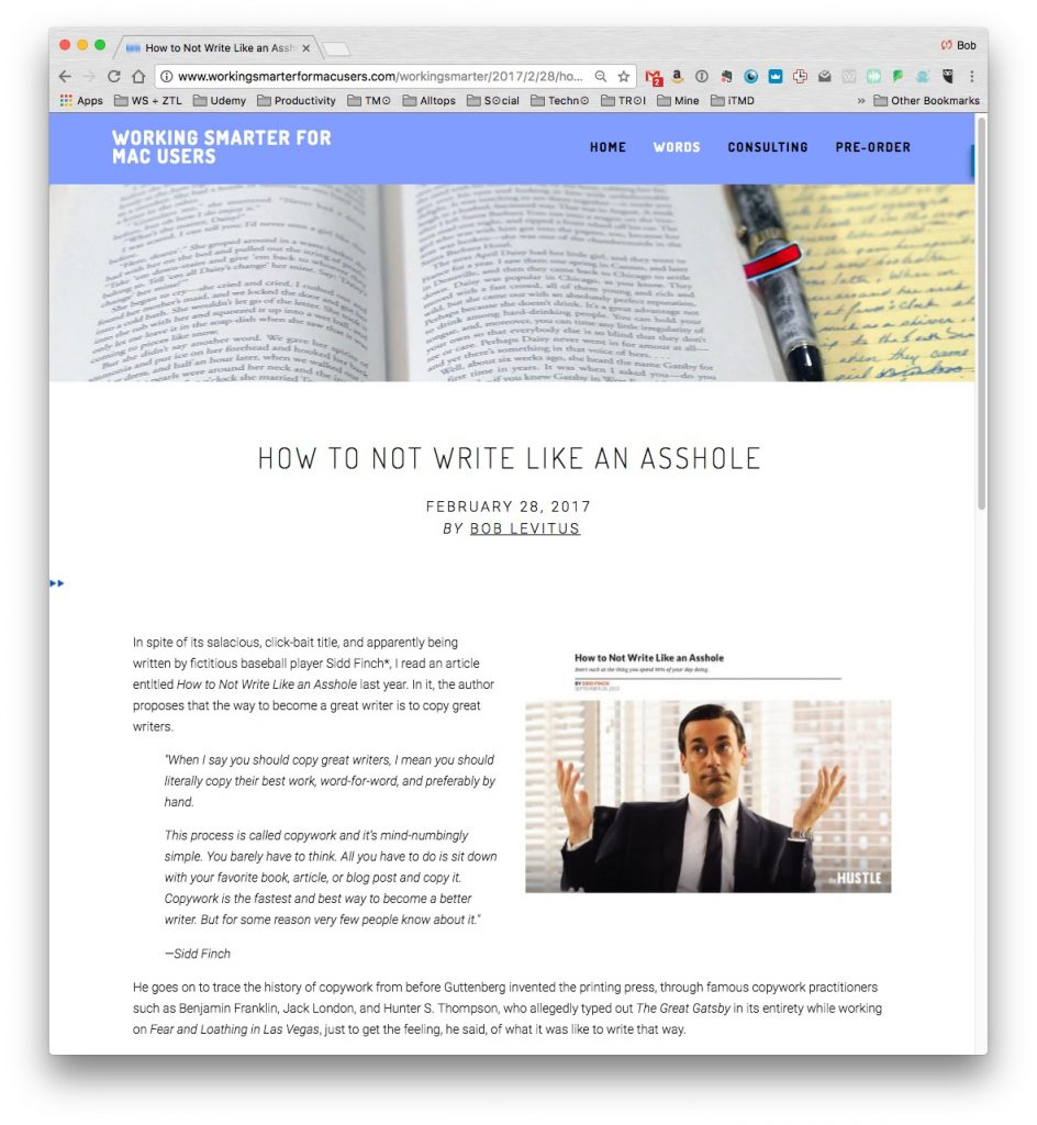 I couldn't design a blog page that looked as good or worked as well as my Squarespace blog.