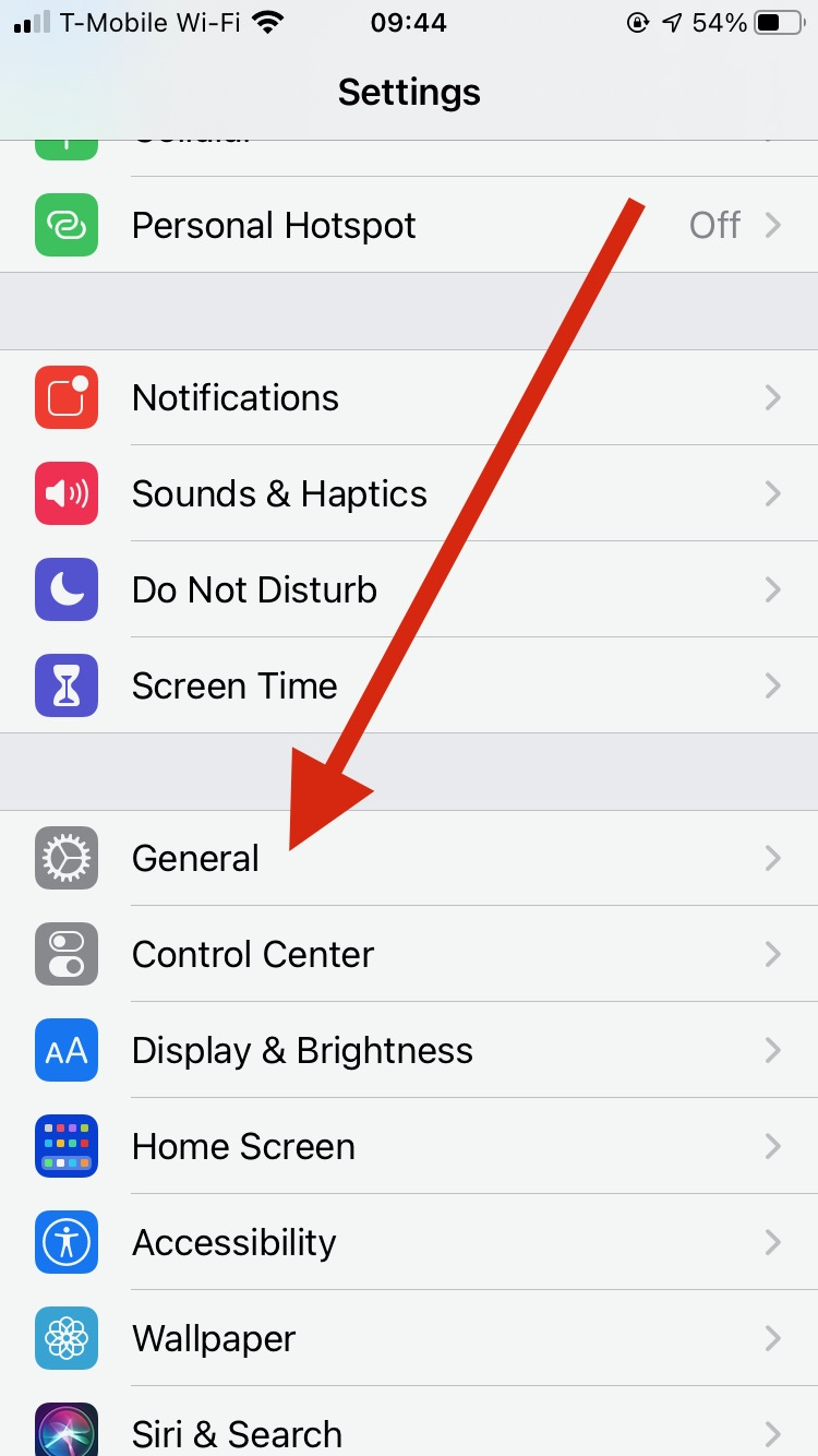 Settings app in iOS - sending encrypted email with iOS Mail