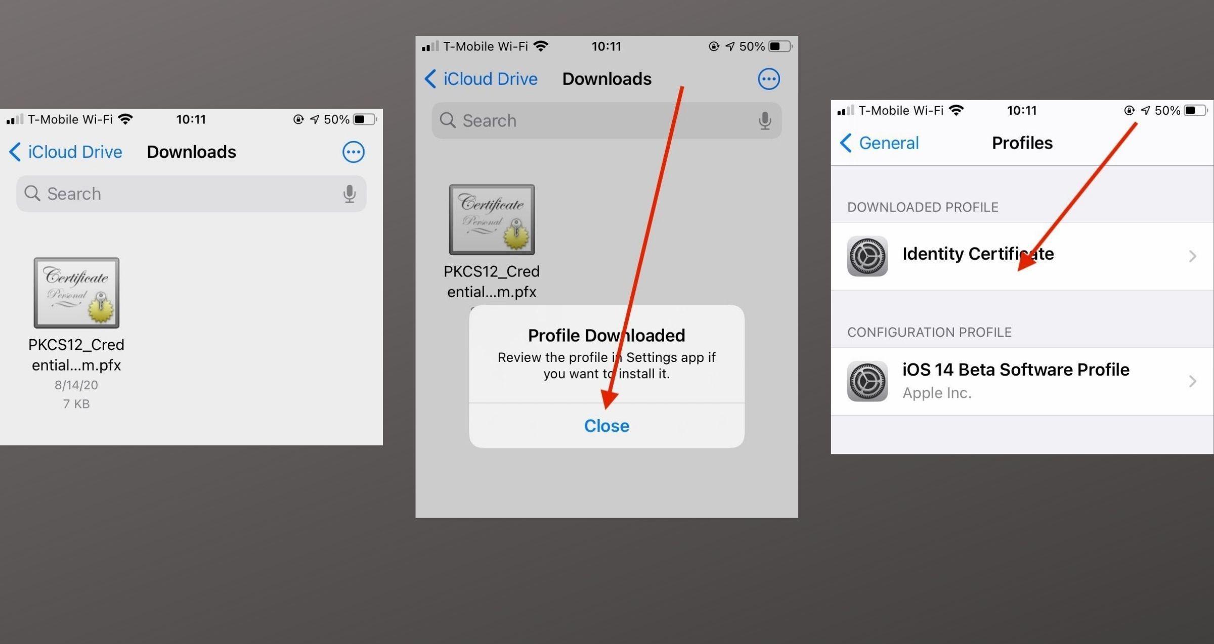iOS 14 Mail Encryption Install 1