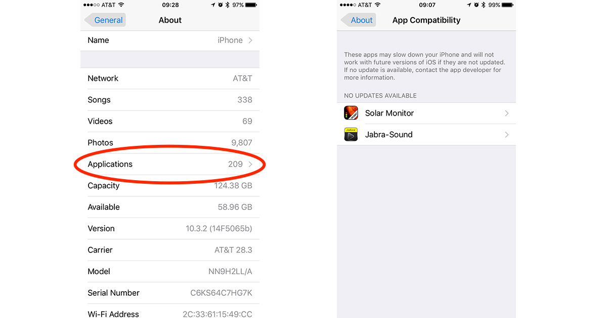 App Compatibility shows which iOS apps are still 32-bit