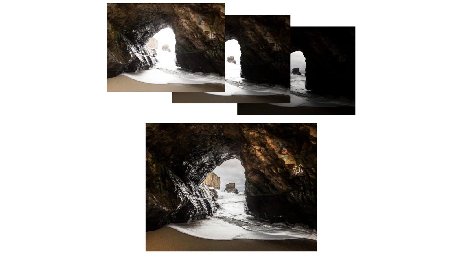 separate exposures in Lightroom hdr mode