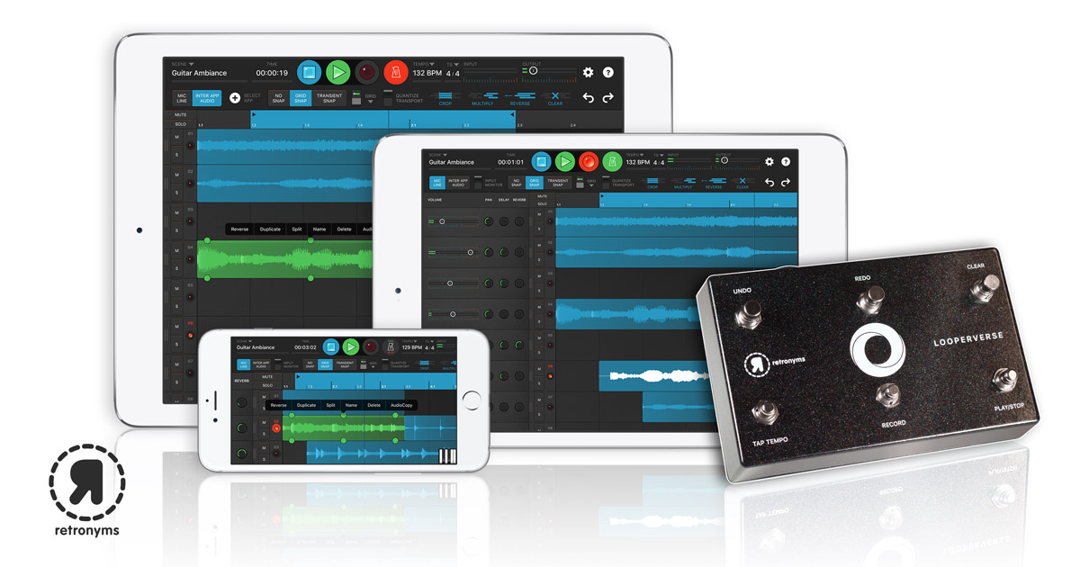 Looperverse Lineup on iPhone, and iPad