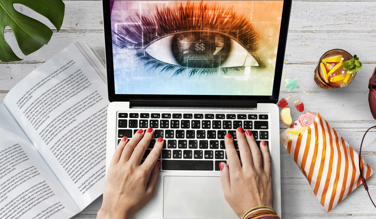 MacBook with a Spying Eye